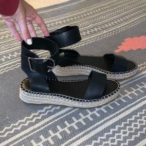 Black Franco Sarto espadrille sandals
